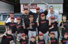 The Union City Little League Muckdogs won the minor championship recently with an 18-6 win over the Ironbirds. Pictured, front row from left, Odin Anderson, Christian Twigg, Jayden Bachman, Gino Ferrucci, Jason Heyward, Zachary Grant; middle row from left, Ty Gaffney, Vinnie Ferrucci, Adrian Ocampo Aidan Leahy, Kyle Segetti, Preston Bachman; back row from left, coaches Brian Gaffney, Jay Segetti, Jay Leahy and Lou Ferrucci. -CONTRIBUTED