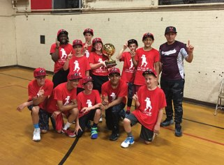 The Bulls won the Naugatuck YMCA 4 on 4 spring league championship June 20 over the Lakers. Pictured, players Camden Collette, Tommy Ayash, Alvin Torres, Freddie Longo, Brayden Collettee, Jimmy Ayash, Austin Dickson, Monica Untiet, Joseph Reilly, Lucas McKenny, Akeyra Brooks and coach James Ayash. -CONTRIBUTED