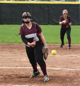 Former Naugatuck High pitcher Jessica Conover is among a number of local softball players that play travel ball over the summer to sharpen their skills. Conover played this summer for the Connecticut Titans and will play at Wells College in Aurora, N.Y. –FILE PHOTO