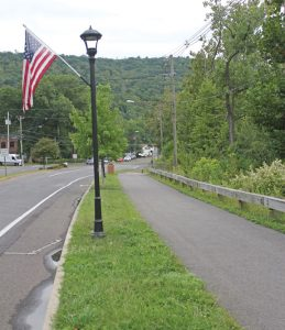 Beacon Falls officials are hoping to extend the streetscape from where it ends at the intersection of Bethany Road, pictured above, to Riverbend Park on Nancy Avenue. –ELIO GUGLIOTTI
