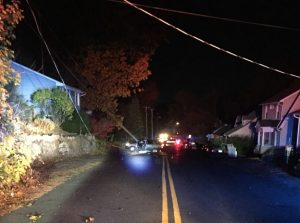 A one-car accident closed a portion of Hill Street Thursday night. –CONTRIBUTED