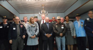 The Naugatuck United Methodist Church held its annual Veterans Appreciation Service and meal to honor veterans Nov. 6. Veterans are pictured with Pastor Peola Hicks, Naugatuck Mayor N. Warren 'Pete' Hess and state senators Joan Hartley and Joe Crisco. –CONTRIBUTED