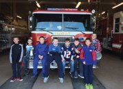 Cub Scouts from dens 1 and 4 of Pack 27 in Prospect recently visited the Prospect firehouse where they met with EMS Officer PJ Conway to complete their first responder requirements for Webelos. –CONTRIBUTED