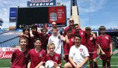 The Naugy United U12 boys comp team played two games at Gillette Stadium in Foxborough, Mass. on May 21 and won both games. –CONTRIBUTED