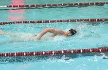 Naugatuck's Brian Goggin competes in the 200 freestyle during a meet against Oxford on Jan. 19 at Naugatuck High School. Naugatuck won the meet, 97-78. –LUKE MARSHALL