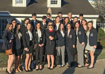 Naugatuck High School DECA students pose for a photo at the DECA Connecticut Career Development Conference March 6 at the Aqua Turf in Plantsville. -CONTRIBUTED