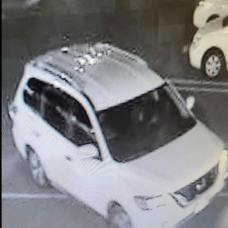 Video footage released by police shows the Nissan Pathfinder officers believe was used in a suspected shoplifting from Stop & Shop in Naugatuck on Sunday night. –CONTRIBUTED