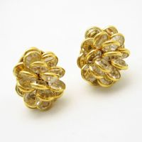 MONET Vintage Clip Earrings Beautiful Bezel Set Crystals ...