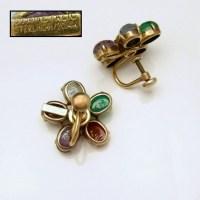 Symmetalic Sterling Egyptian Scarabs Vintage Earrings Mid ...