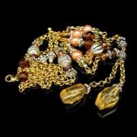 AVON Vintage Necklace Mid Century 2 Multi Strand Glass ...