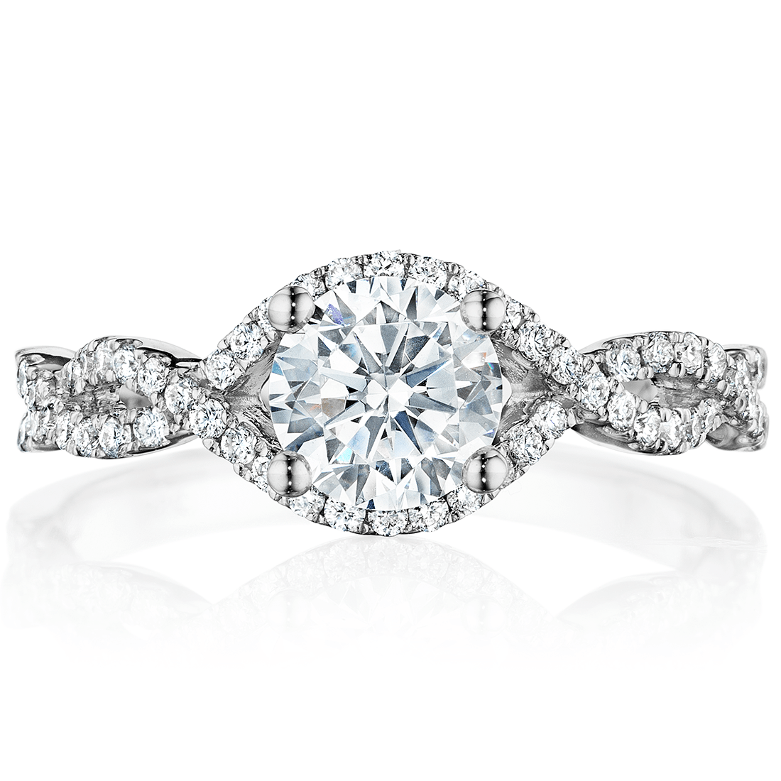Classic Open Twist Engagement Ring