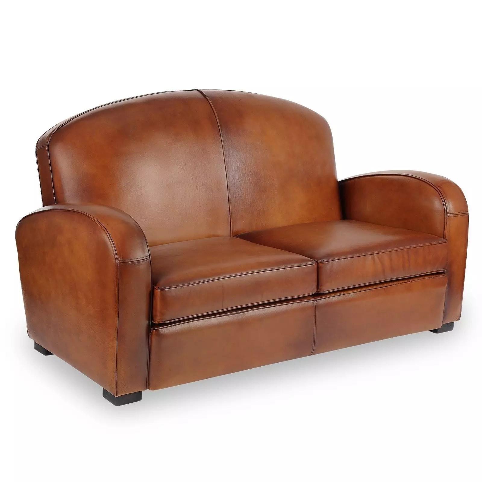 Jaca 2 seater sofa, simulated leather. Hemingway 2 seater Leather Club Sofa