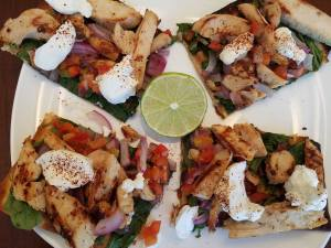 21 Day Fix Chili Lime Chicken Flat Bread