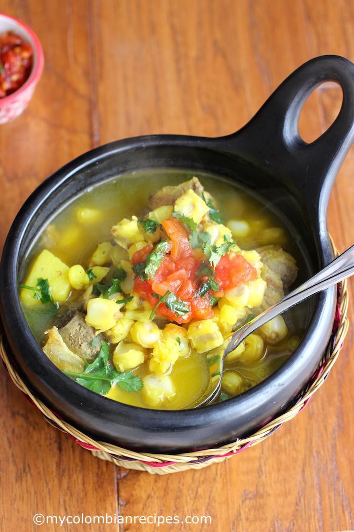 Colombian Yellow Hominy Soup Sopa De Mute My Colombian