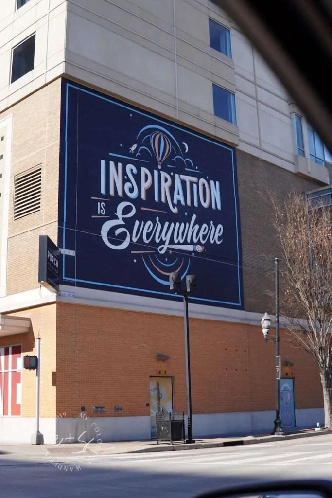 Inspiration is Everywhere Mural - Louisville Murals