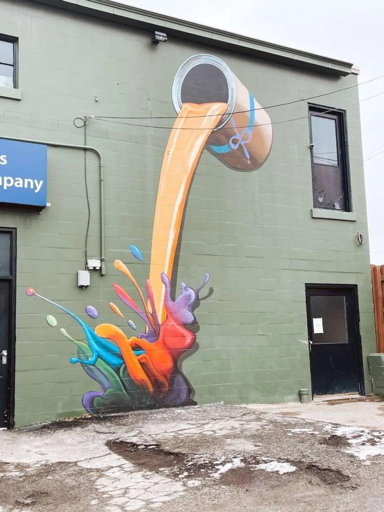 pouring paint mural louisville kentucky murals