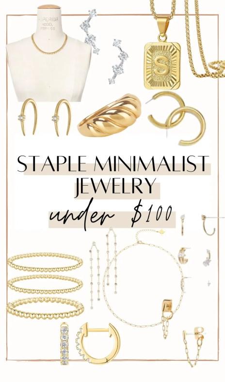 Staple minimalist jewelry