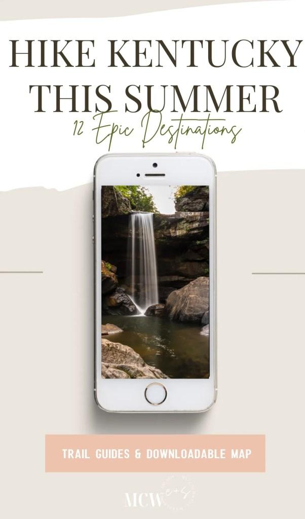 Kentucky Hiking, Hiking in Kentucky, Hiking trails in Kentucky, best hiking in Kentucky, best hikes in Kentucky, waterfalls in Kentucky, Kentucky waterfalls, hiking trail with waterfalls
