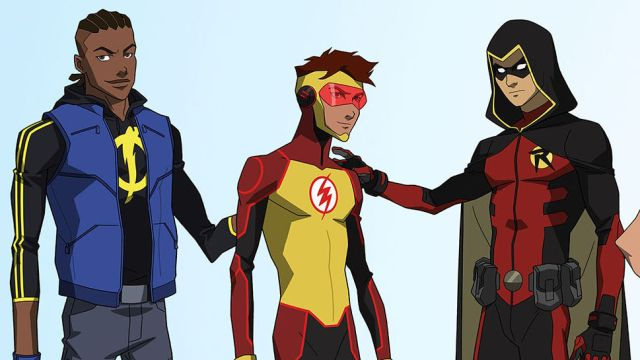 young justice outsiders kid flash impulse bart allen wally west