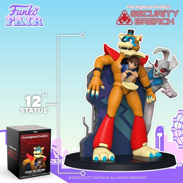 funko fair day 3 toy fair 2021 sports and games five nights at freddy's FNAF freddy and gregory 12 inch statue security breach