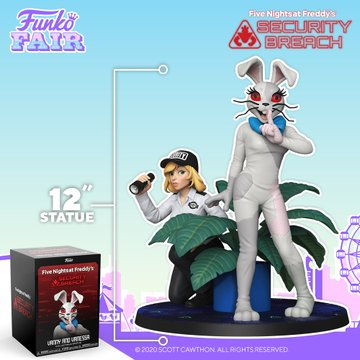 funko fair day 3 toy fair 2021 sports and games five nights at freddy's FNAF vanny and vanessa 12 inch statue security breach