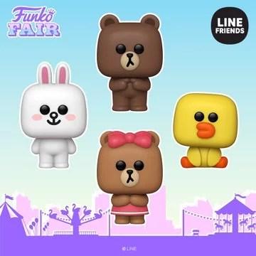funko fair day 7 animation toy fair 2021 line friends cony brown sally choco pop