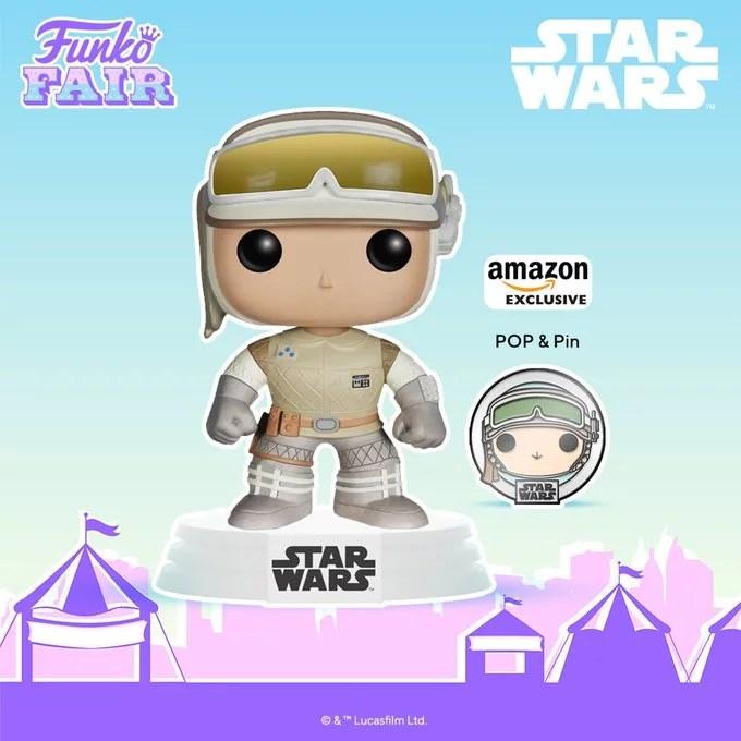 Funko Toy Fair Star Wars Luke Skywalker Pop! & Pin combo Amazon Exclusive