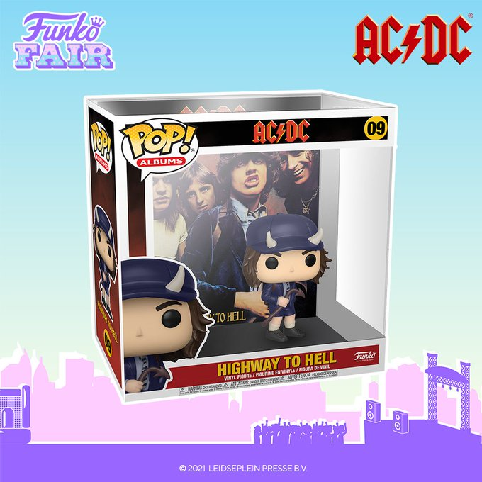 funko fair day 9 toy fair 2021 dc comics and music acdc ac/dc highway to hell pop album