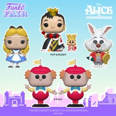 funko fair day 8 toy fair 2021 disney alice in wonderland 70th anniversary pop and buddy queen of hearts with king white rabbit tweedle dee tweedle dum 2 pack