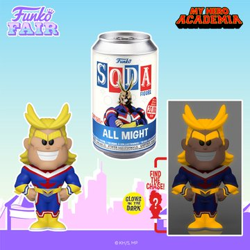 Funko Toy Fair My Hero Academia All Might Soda Chance of Glow in the Dark Chase Preorder