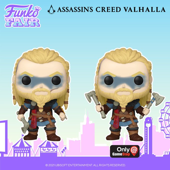 funko fair day 3 toy fair 2021 sports and games assassins creed valhalla pop gamestop exclusive