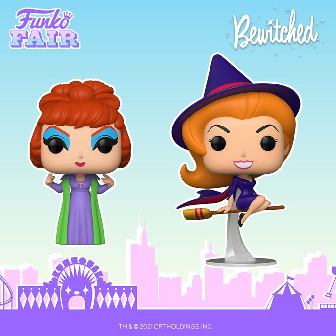 funko fair day 6 toy fair 2021 tv shows television bewitched pop classic endora samantha stephens