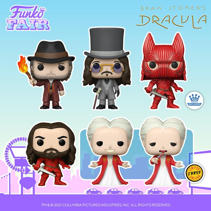 funko fair day 5 movies toy fair 2021 bram stoker's dracula van helsing young armored chase bloody pop exclusive