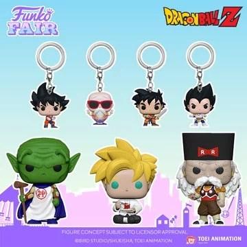 funko toy fair 2021 anime day 2 dragon ball z pocket pop keychain goku master roshi gohan training vegeta kami super saiyan gohan noodles dr gero preorder