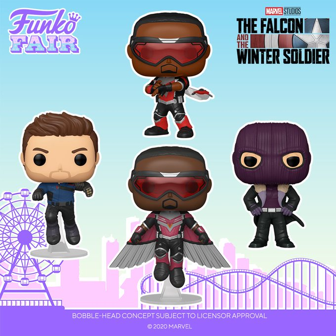funko fair day 4 2021 marvel the falcon and winter soldier disney+ baron zemo pop