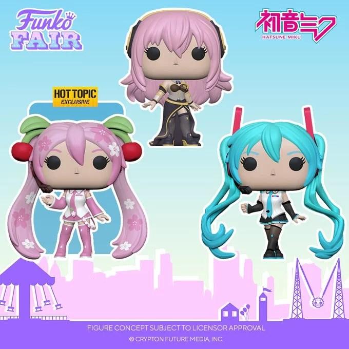 funko toy fair 2021 anime day 2 exclusive pop vocaloid virtual singer hatsune miku cherry blossom mergurine luka hot topic preorder