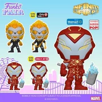 funko fair day 4 2021 marvel infinity warps glow in the dark 10 inch exclusive gamestop target walmart