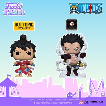 funko toy fair 2021 anime day 2 one piece exclusive pop luffy kimono metallic gear 4th hot topic chalice collectibles preorder