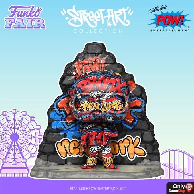 funko fair day 4 2021 marvel stan lee graffiti street art collection pow gamestop exclusive New York Bronx