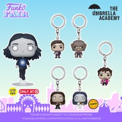 funko fair day 6 toy fair 2021 tv shows television the umbrella academy pocket pop keychain vanya glow in the dark number 5 five pogo klaus chase target exclusive
