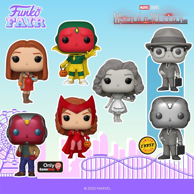 funko fair day 4 2021 marvel wandavision wanda vision scarlet witch 50's 70's chase gamestop exclusive