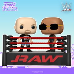 funko fair day 3 toy fair 2021 sports and games wwe wrestlemania wrestling stone cold steve austin vs versus the rock