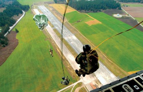 Static Parachute Jump from a C-130 Hercules