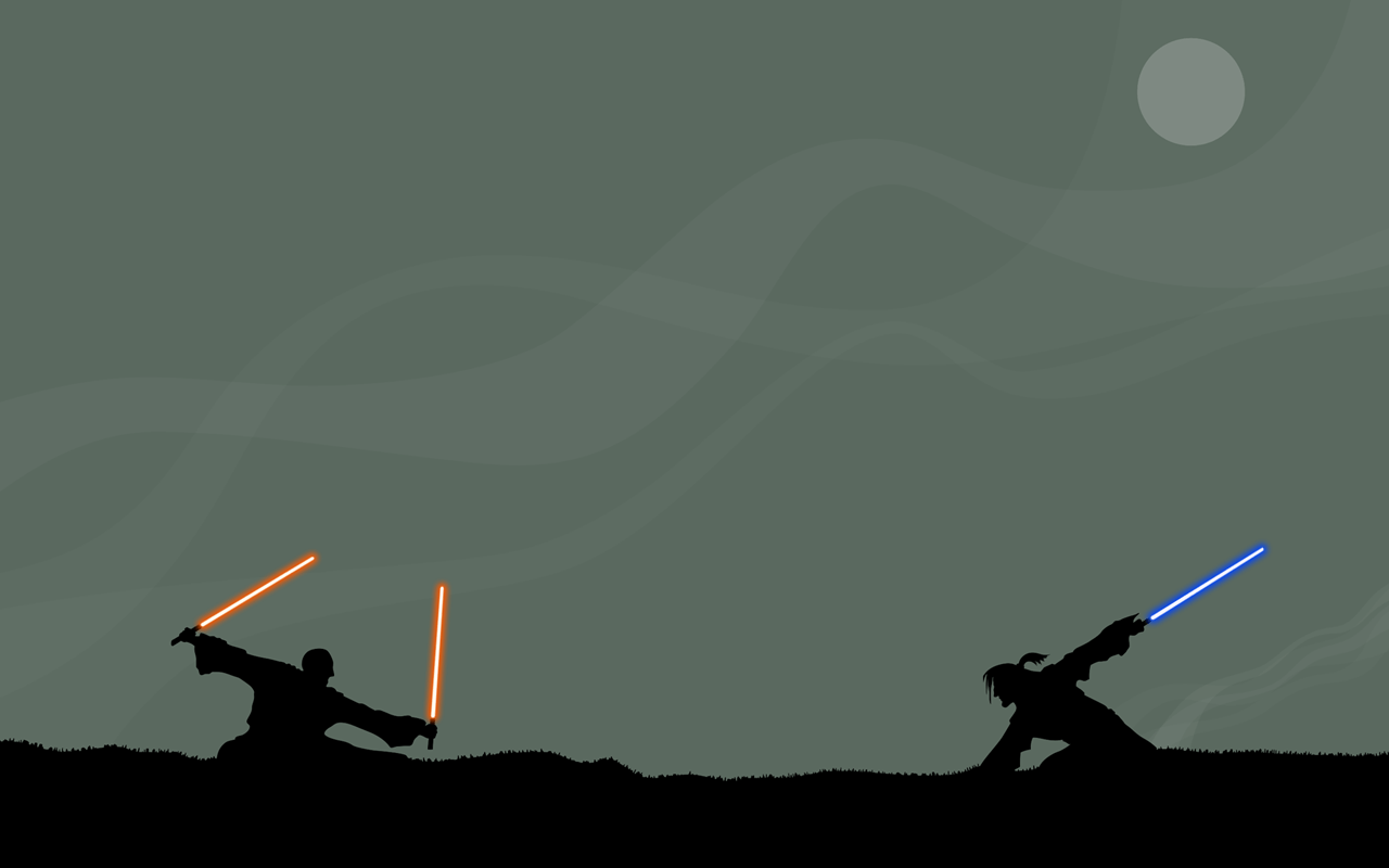 Star Wars Jedi Duel Dual Monitor Wallpaper Myconfinedspace