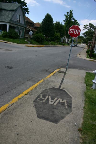 Anti-war graffiti