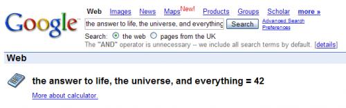 Google ~ 42