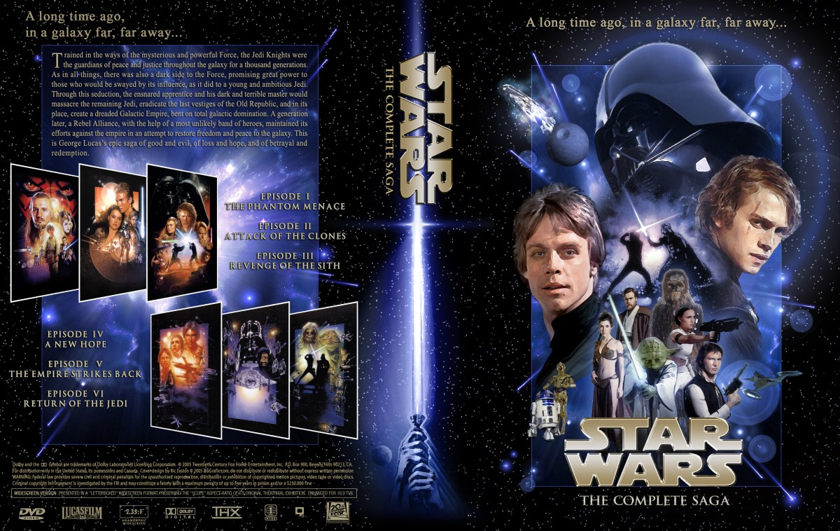 star wars  the complete saga dvd cover  myconfinedspace