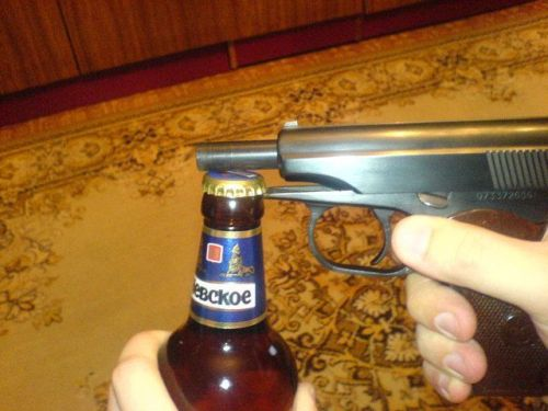 Pistol Bottle Opener