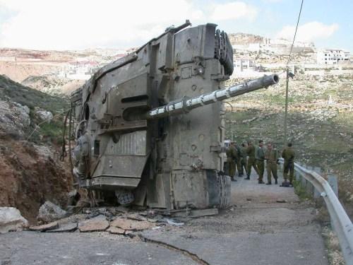 Merkava destroyed in South of Lebanon