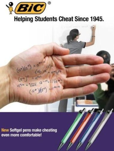 Bic - Helping Students Cheat Since 1945